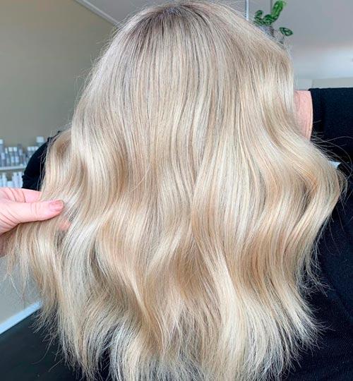 starting from golden blonde