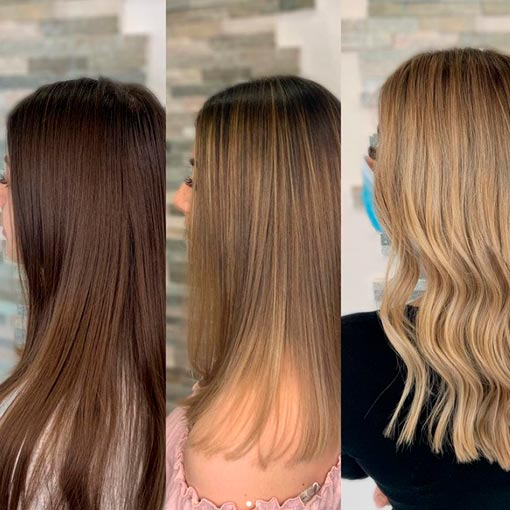 stages of bleaching hair