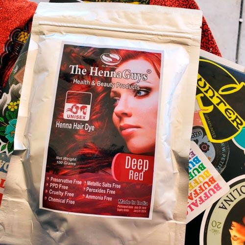 deep red hair dye