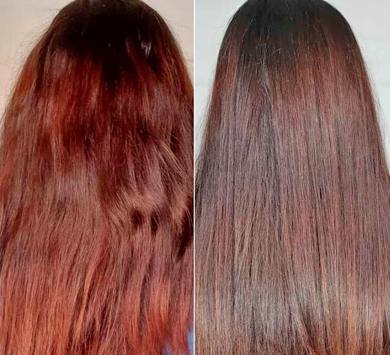 neutralize red tones in brown hair