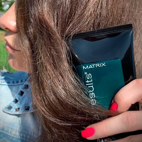 with green shampoo