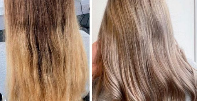 from yellow to ash hair color