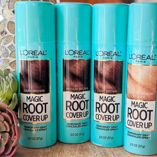 touch up roots in hair with highlights