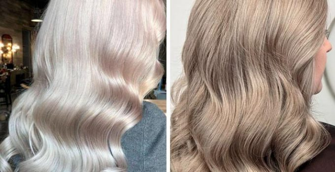 pearl blonde and ash blonde