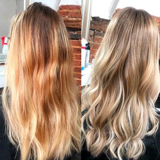 toning brassy hair
