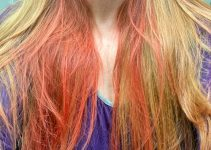traces of red pigments in bleached hair