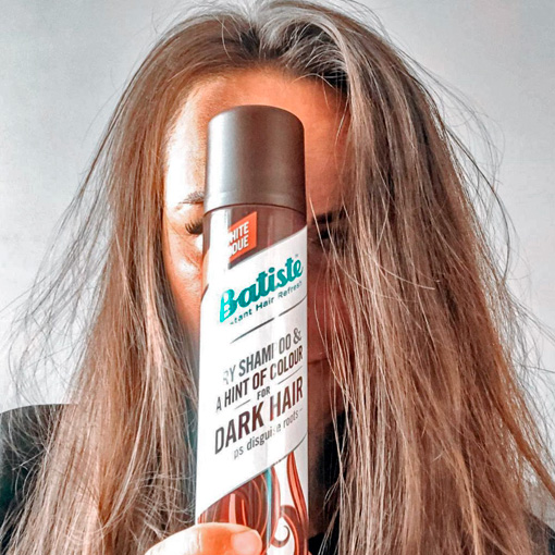 hide wide hair parting