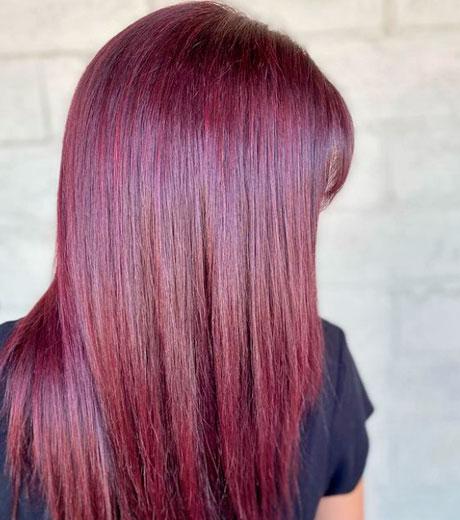 partiendo de pelo oscuro