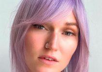 purple shampoo turned hair lilac