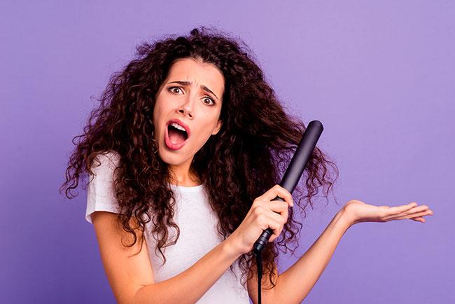 straighten hair with iron