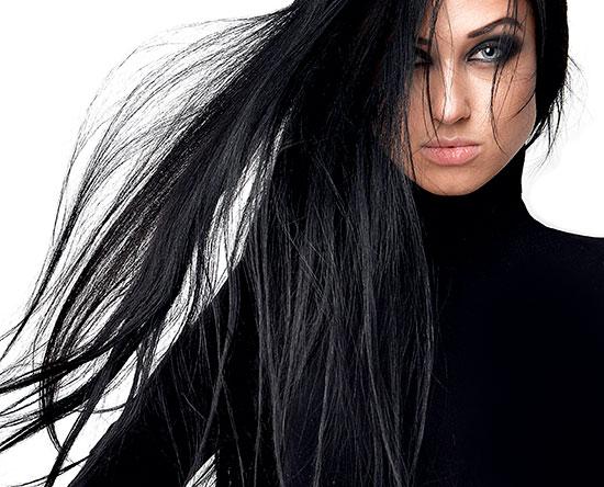 pelo quedo muy oscuro volver a teñir