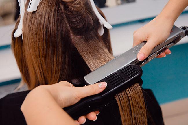 keratin treatment in salon