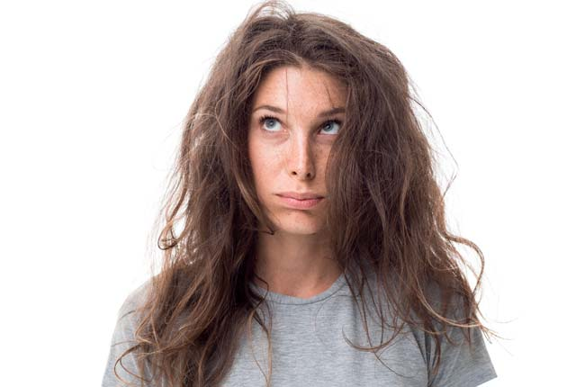 dry, frizzy, and burned hair