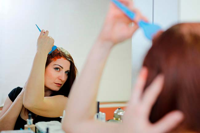 dyeing keratin treated hair