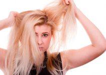 pelo delgado y puntas abiertas